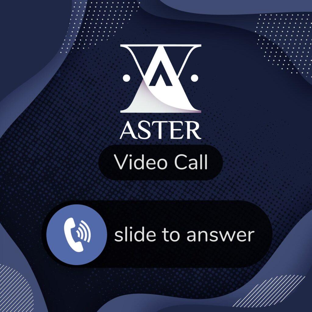กิจกรรม zoom call aster